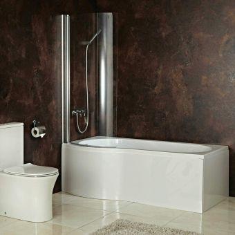 Phoenix Capri Shower Bath with Shower Screen