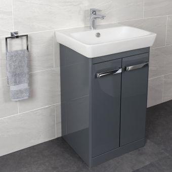 Vitra M-Line 60cm Double Door Floorstanding Vanity