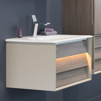 VitrA Frame 1 Drawer 600mm Vanity with Basin - 61216