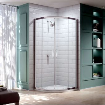 Merlyn Series 8 Twin Door Quadrant Shower Enclosure 900 x 900 Without Tray