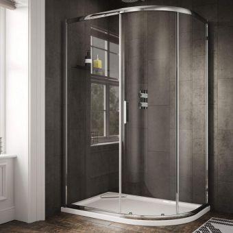 Sommer 6 Single Door Quadrant Shower Enclosure