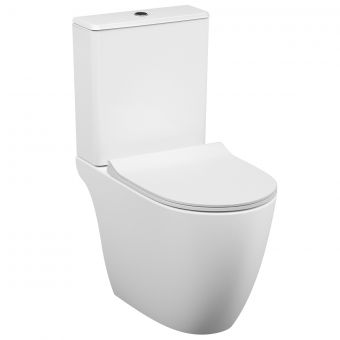 VitrA Sento Close Coupled Open Back Rimless Toilet