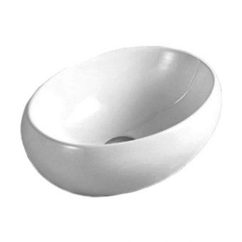 Saneux Podium 420mm Oval Countertop Washbasin