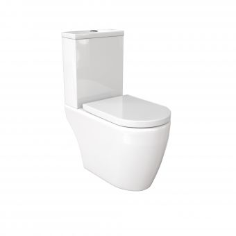 Saneux Uni Open Back Close Coupled Rimless WC