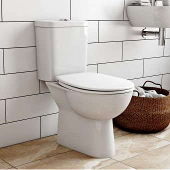 CHK Grohe Bau Ceramic Close Coupled Rimless Toilet