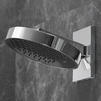 hansgrohe Rainfinity 250 3 Jet Shower Head with Wall Connector and Ecosmart 9 Option