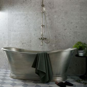 BC Designs Tin Boat Double Ended Freestanding Bath