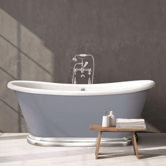 BC Designs Acrylic Boat Bath with Aluminium Plinth