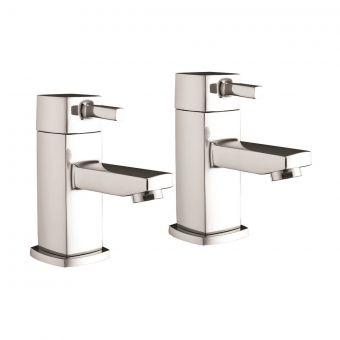 UK Bathrooms Essentials Miro Basin Taps
