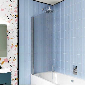 Crosswater Design 8 Single Panel Bath Screen - DBSSC0850