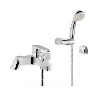 VitrA Chrome Bath Shower Mixer Tap with Hose and Handset - 40783