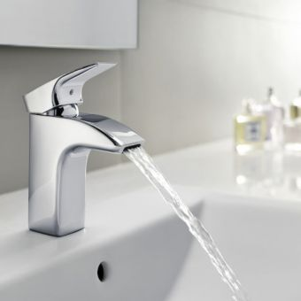 Roca Thesis Basin Mixer Tap with Retractable Waste Chain