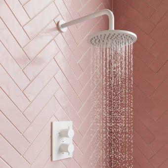 Crosswater MPRO 300mm diameter Matt White Fixed Shower Head - PRO300W+