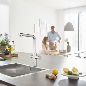 Grohe Blue Home L Spout Filtered Water Mixer Tap - 31454001