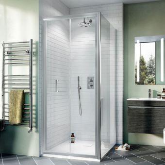 Crosswater Kai Chrome 2 Outlet, 2 Handle Shower Bundle