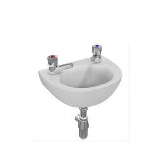 Armitage Shanks Sandringham 21 350mm Handrinse Basin no Overflow, no chain hole - S8150