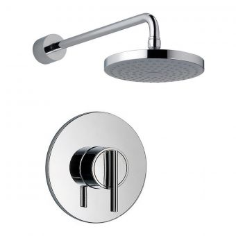 Mira Silver Concealed Valve and Showerhead Set - 1.1628.003