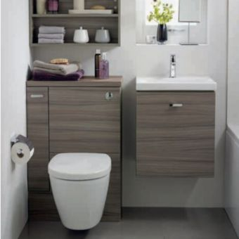 Ideal Standard Concept Space 600mm WC Unit with storage cupboard- Right Hand