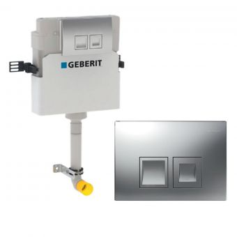 Geberit Duofix Delta 112cm Concealed Cistern with Delta Flush Plate - 109.103.21.1