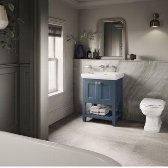 Burlington Riviera Matt Blue 650mm Vanity Unit And Basin