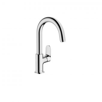 hansgrohe Vernis blend swivel spout basin mixer tap with pop-up waste
