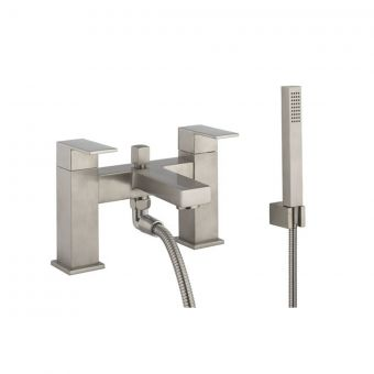 Crosswater Verge Bath Shower Mixer in Brushed Stainless Steel Effect