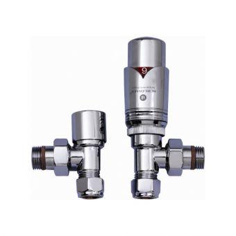 JIS Angled Thermostatic Radiator Valves - VWATRV