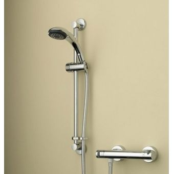 Bristan Artisan Thermostatic Surface Mounted Bar Shower Valve and Single Function Handset