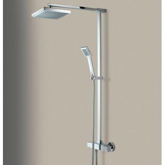 Bristan Quadrato Exposed Fixed Head Bar Shower with Diverter & Kit - QD SHXDIVFF C