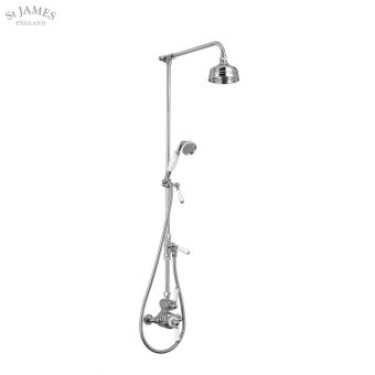 St James Exposed Thermostatic Shower Valve with Riser Rail
