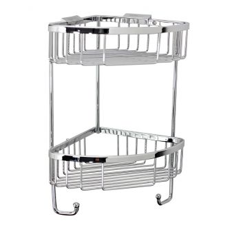 Roman Double Corner Basket With Hooks - RSB05