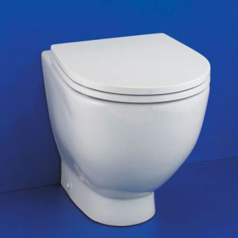 Ideal Standard White Round Back to Wall Toilet