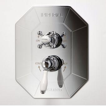 Imperial Quadrata Deco Concealed Thermostatic Shower Valve
