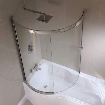 April Prestige Sliding P Shape Bath Screen