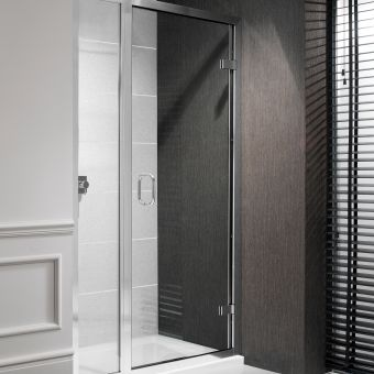 Simpsons Classic Hinged Shower Door and Inline Shower Panel