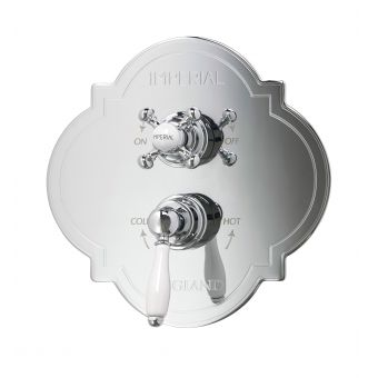 Imperial Amena Firenze Concealed Thermostatic Valve with Radcliffe Handles