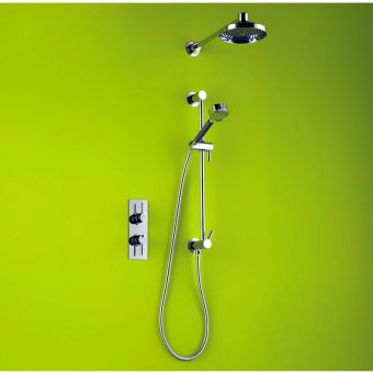 Matki Swadling Absolute Single Outlet Thermostatic Dual Shower Kit 2115