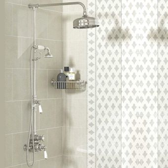 St James Exposed Thermostatic Shower Valve with Handshower and Cradle