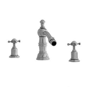 Perrin and Rowe Traditional 3 Hole Bidet Mixer Tap with Country Spout