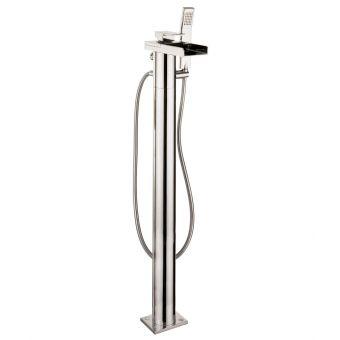 Crosswater Water Square Floor Standing Bath Mixer with Shower Set