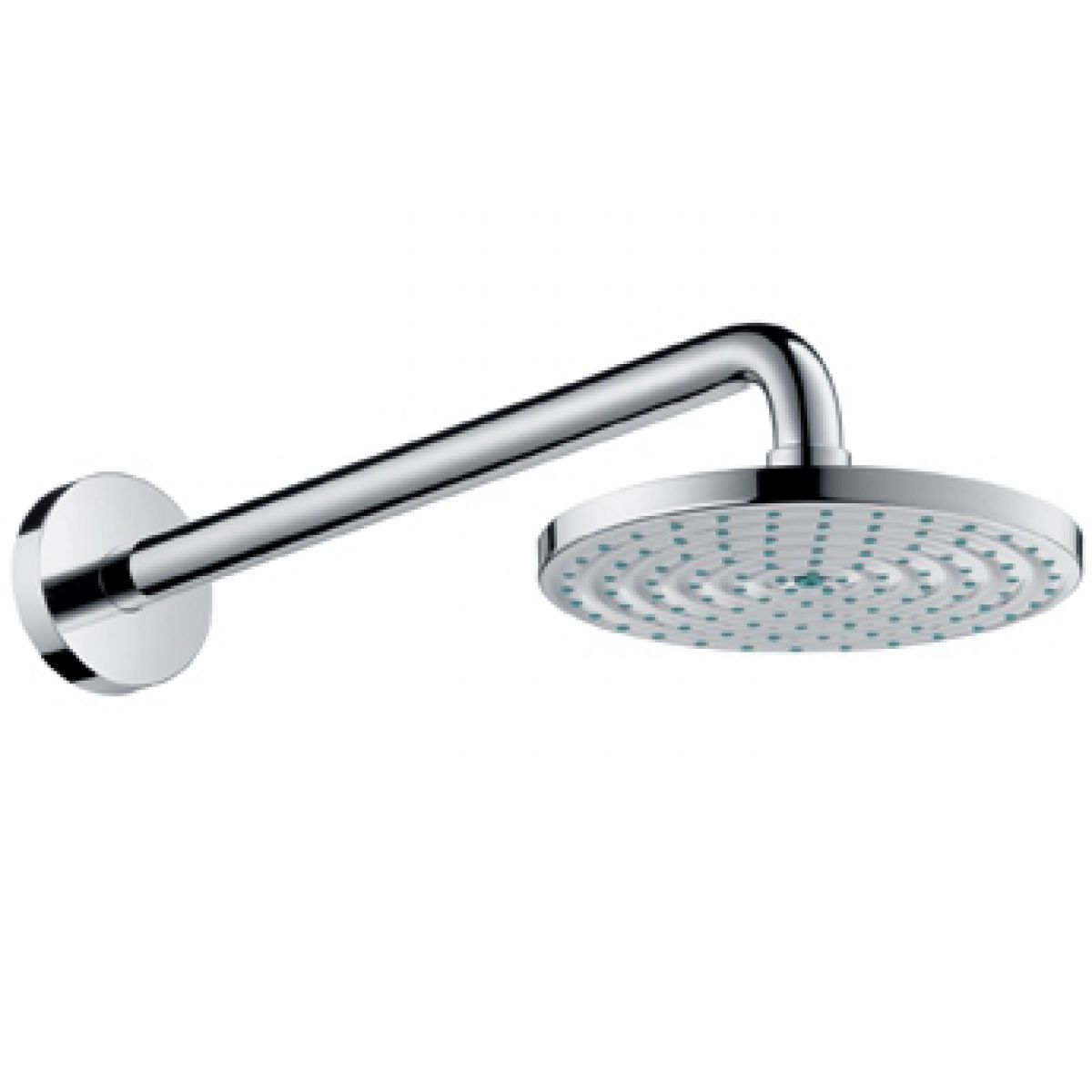 hansgrohe raindance air 180mm shower head arm uk bathrooms