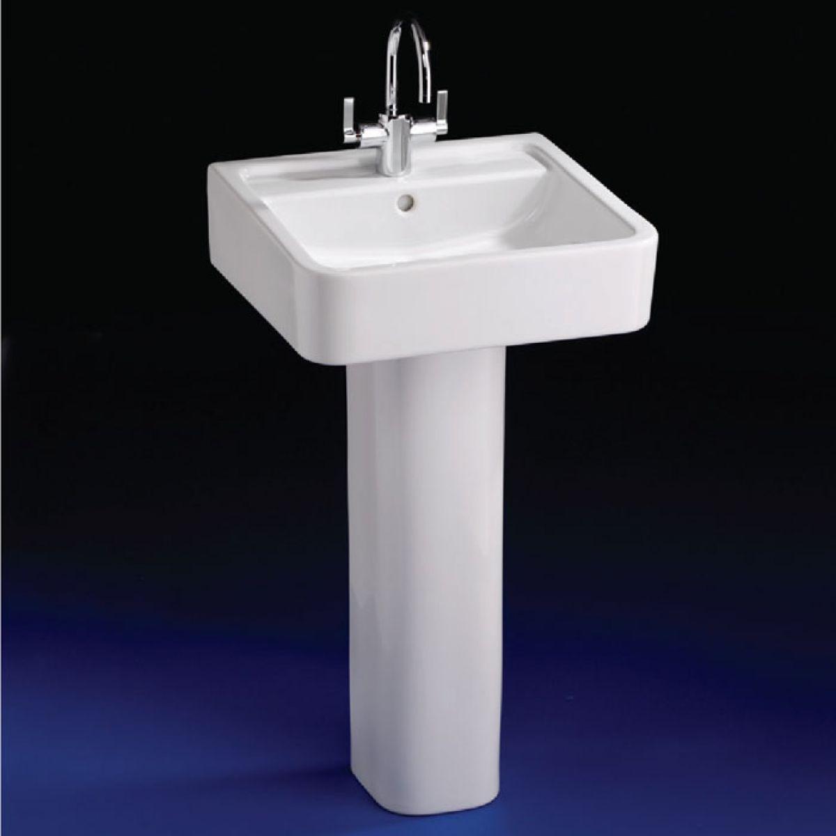 ideal standard white 50cm cube basin uk bathrooms. Black Bedroom Furniture Sets. Home Design Ideas