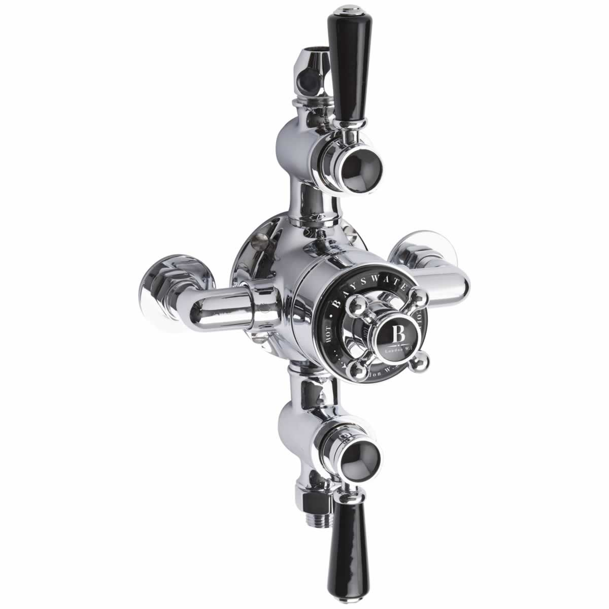 Bayswater Traditional Triple Exposed Thermostatic Shower Valve : UK ...
