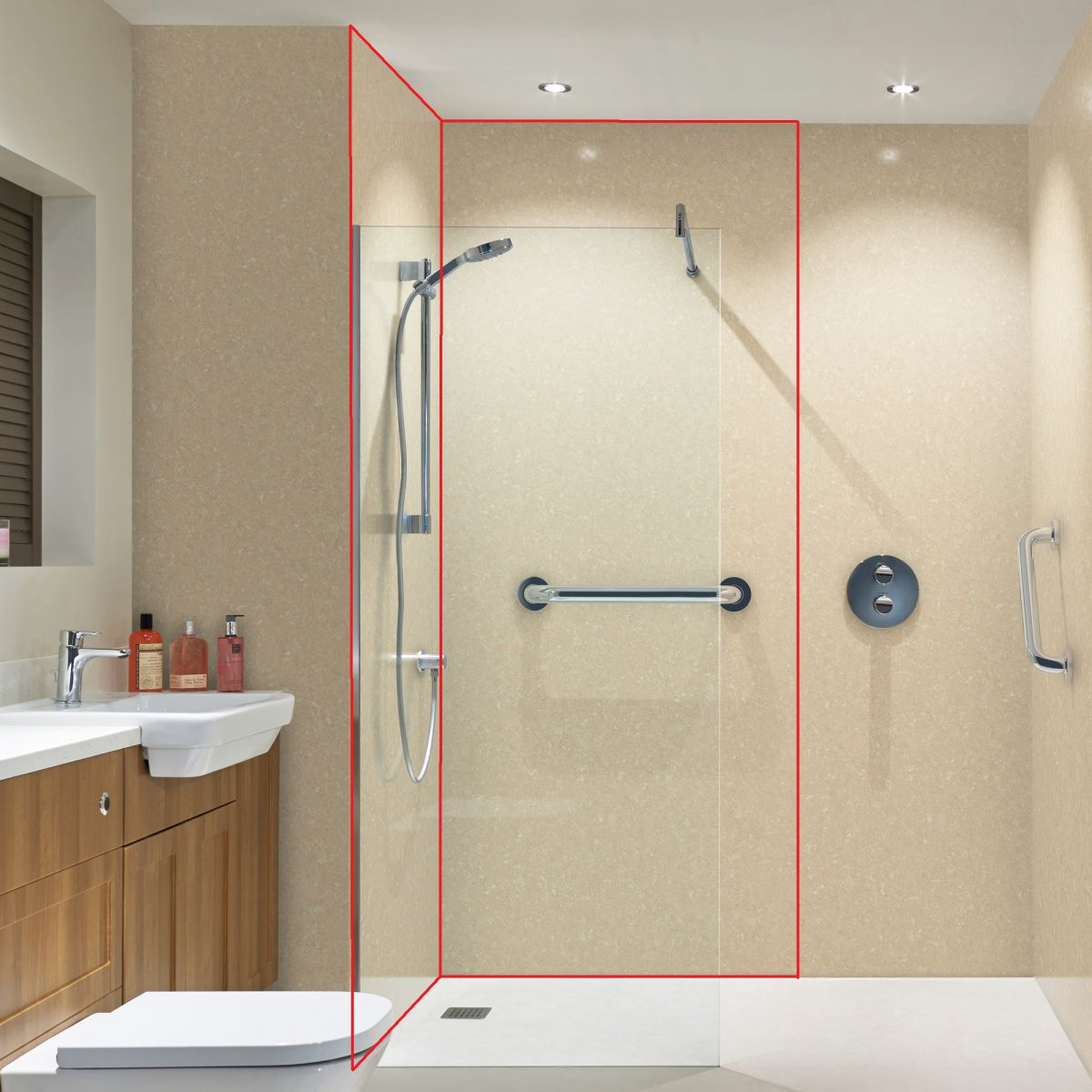 Bushboard Nuance Corner Wall Panel Pack A Uk Bathrooms