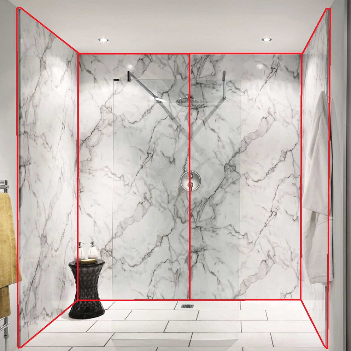 picture of shower wall panels