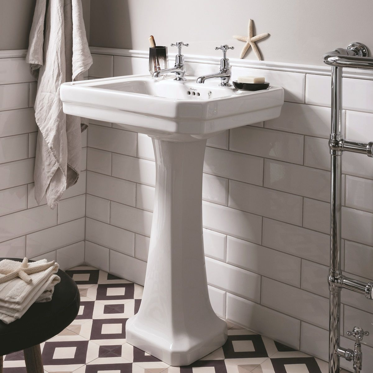 Burlington Victorian Small 56cm Basin Uk Bathrooms