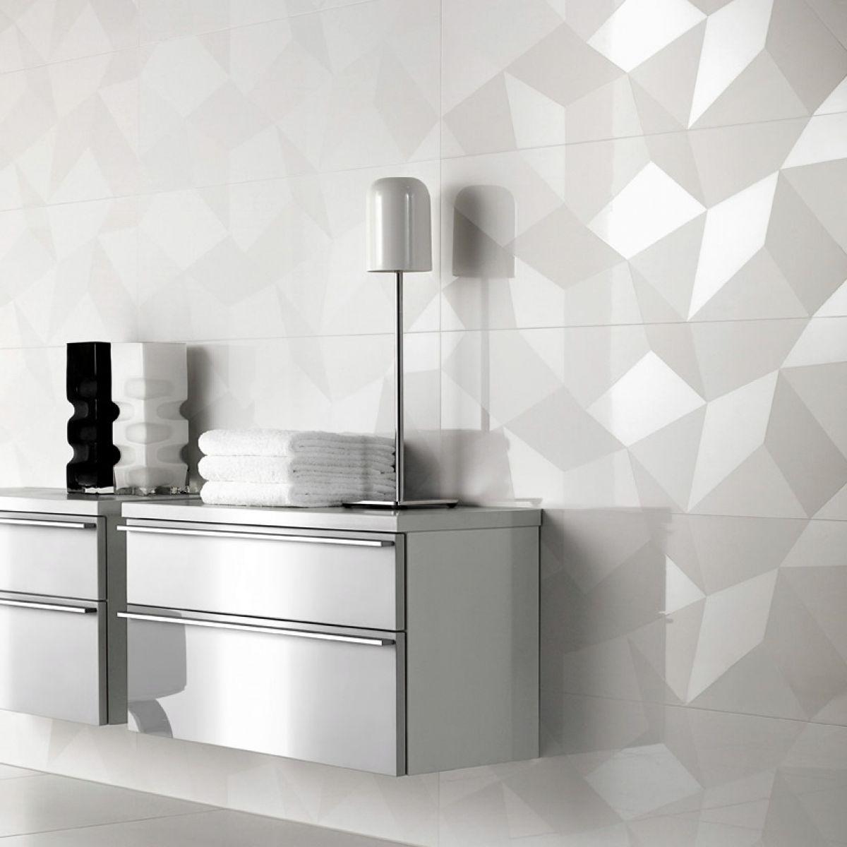 V B Bianco Nero Decor Tile 1581 30 x 60cm UK Bathrooms