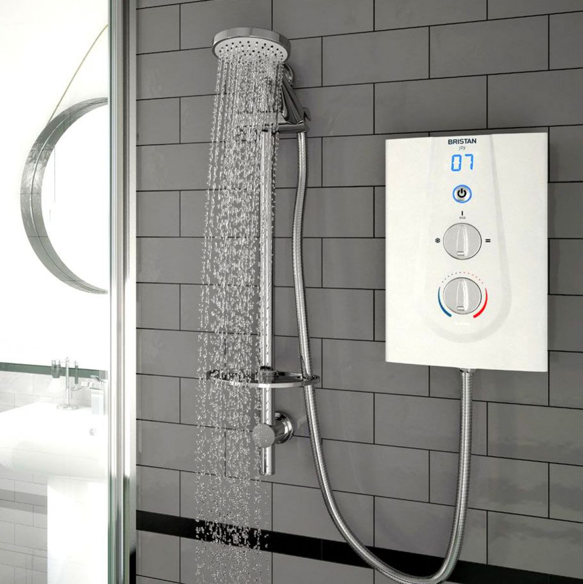 picture of an electric shower