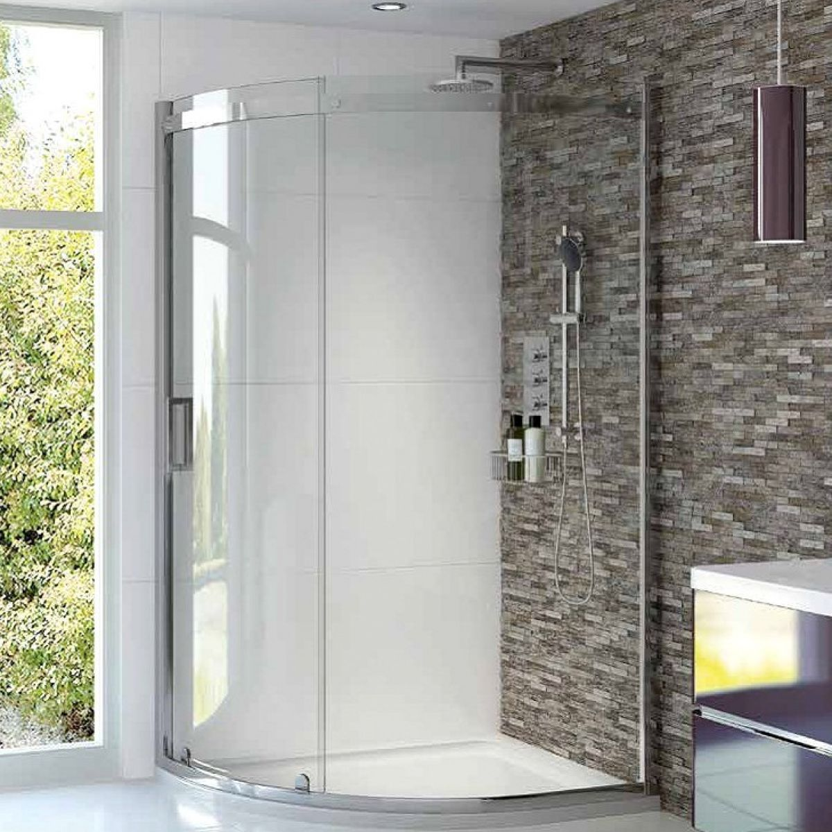 picture of a quadrant shower enclosure