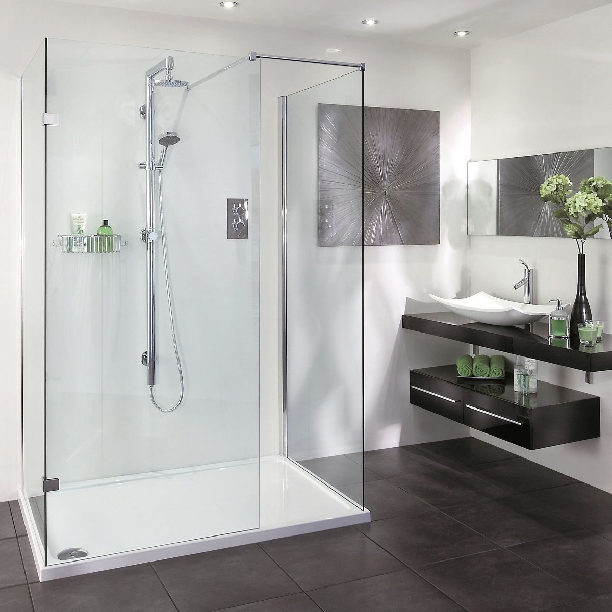picture of a walk in shower enclosure